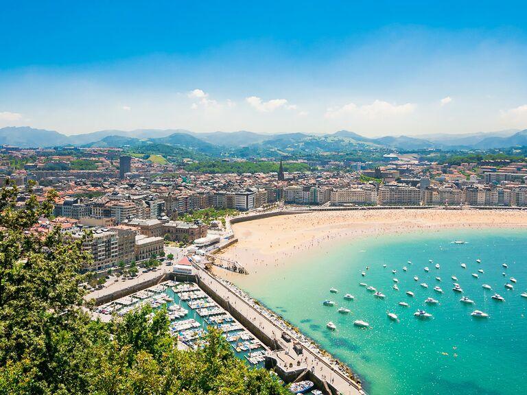 San Sebastian beach, Spain