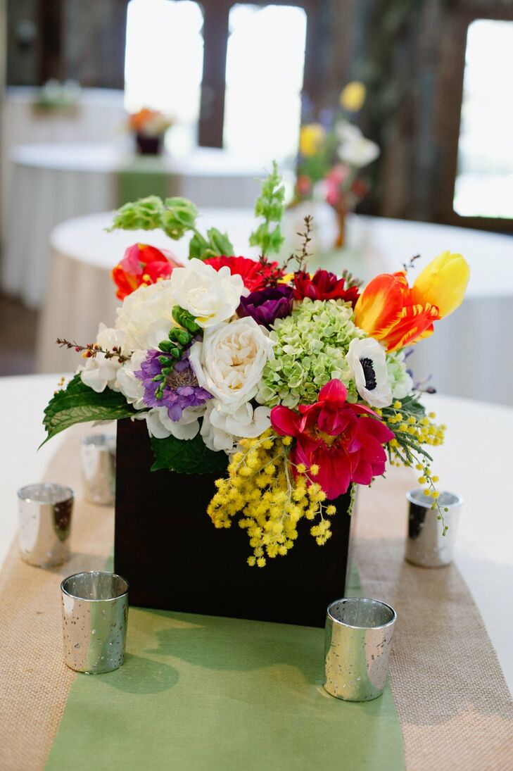 Multicolored, Low Centerpieces