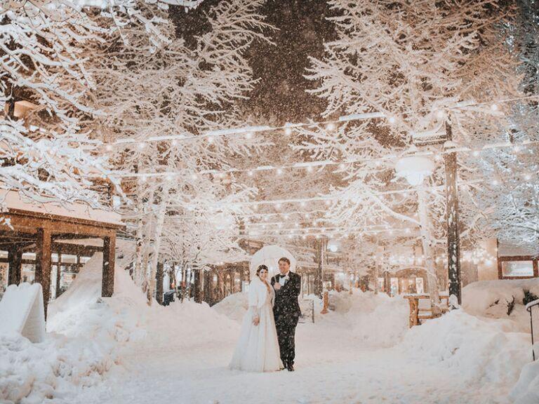 Winter wedding venue in Snowmass Village, Colorado.