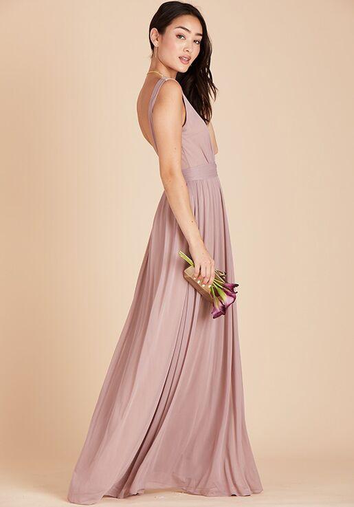 Birdy Grey Jan Scoop Back Dress in Mauve Scoop Bridesmaid Dress