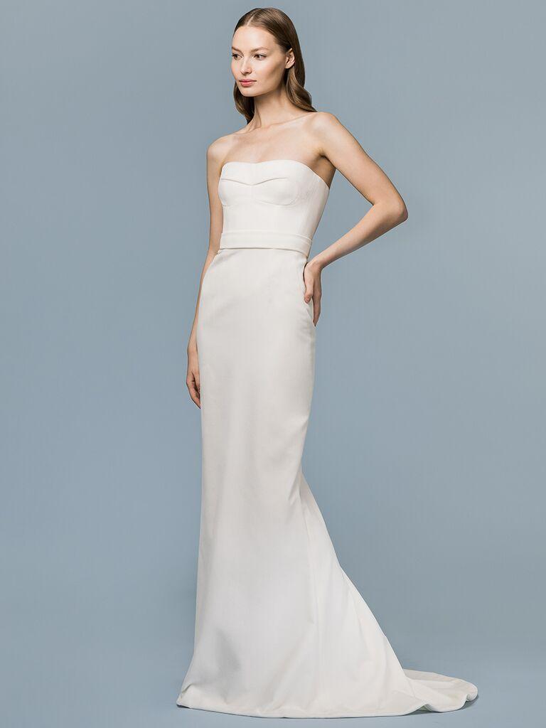 EDEM Demi Couture strapless sheath dress