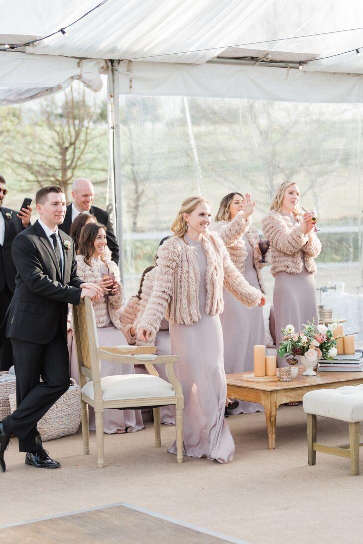 Faux Fur Bridesmaid Cover-ups