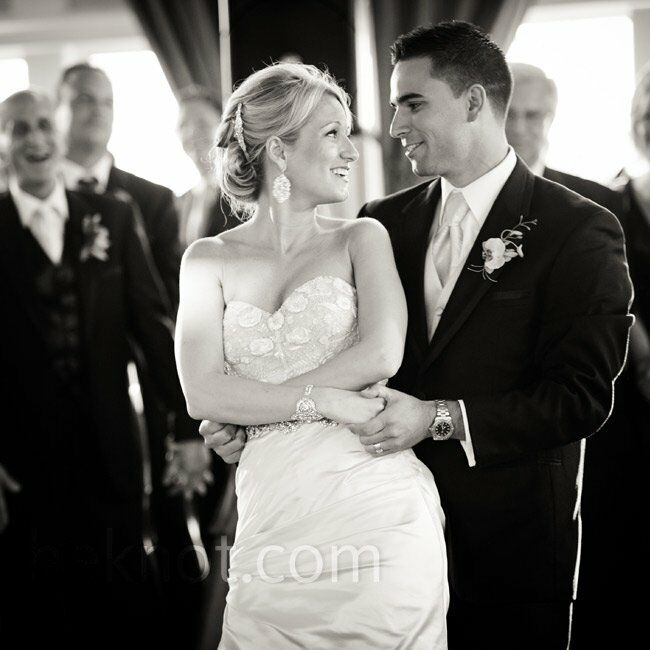 """The newlyweds danced to """"Everything"""" by Michael Bublé."""