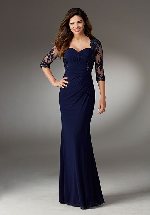 MGNY 71519 Black Mother Of The Bride Dress