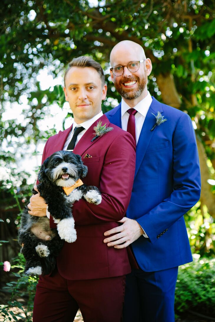Same-Sex Wedding Portraits with Dog in California