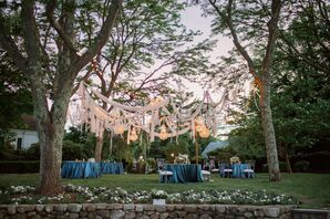 Sunset Outdoor Reception in Cape Cod, Massachusetts