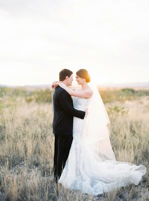 First Look at Marathon, Texas Wedding