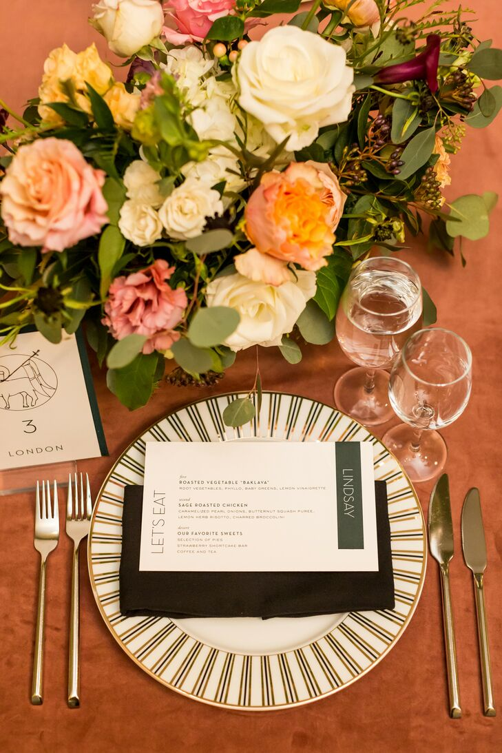 Place Setting for Reception at The Meridian House in Washington, D.C.
