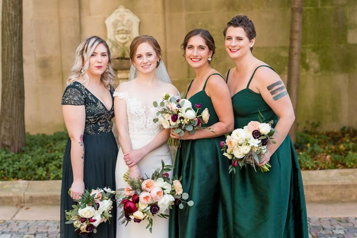 Bridesmaid Portraits at The Meridian House in Washington, D.C.