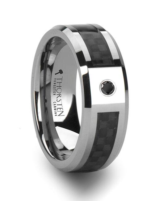 Mens Tungsten Wedding Bands W802-BCBD Tungsten Wedding Ring
