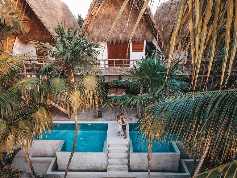 couple at hotel in Tulum, Mexico