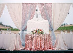 Elegant, Glamorous Sweetheart Table