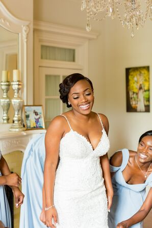Bride Getting Ready at O'Donnell House Wedding in Sumter, South Carolina