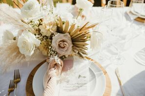 Neutral Place Settings with Wood Chargers