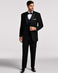 Men's Wearhouse Calvin Klein® Black Peak Lapel Black Tuxedo