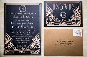Great Gatsby Inspired Invitations