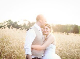 John and Amber Prater, both 22-year-old students, married in an outdoor wedding on the bride's family farm in Rising Sun, Indiana. The couple first me