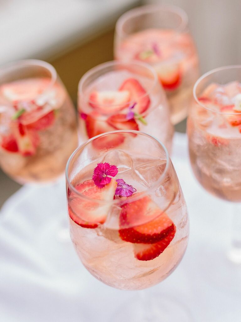 wedding drink ideas rose