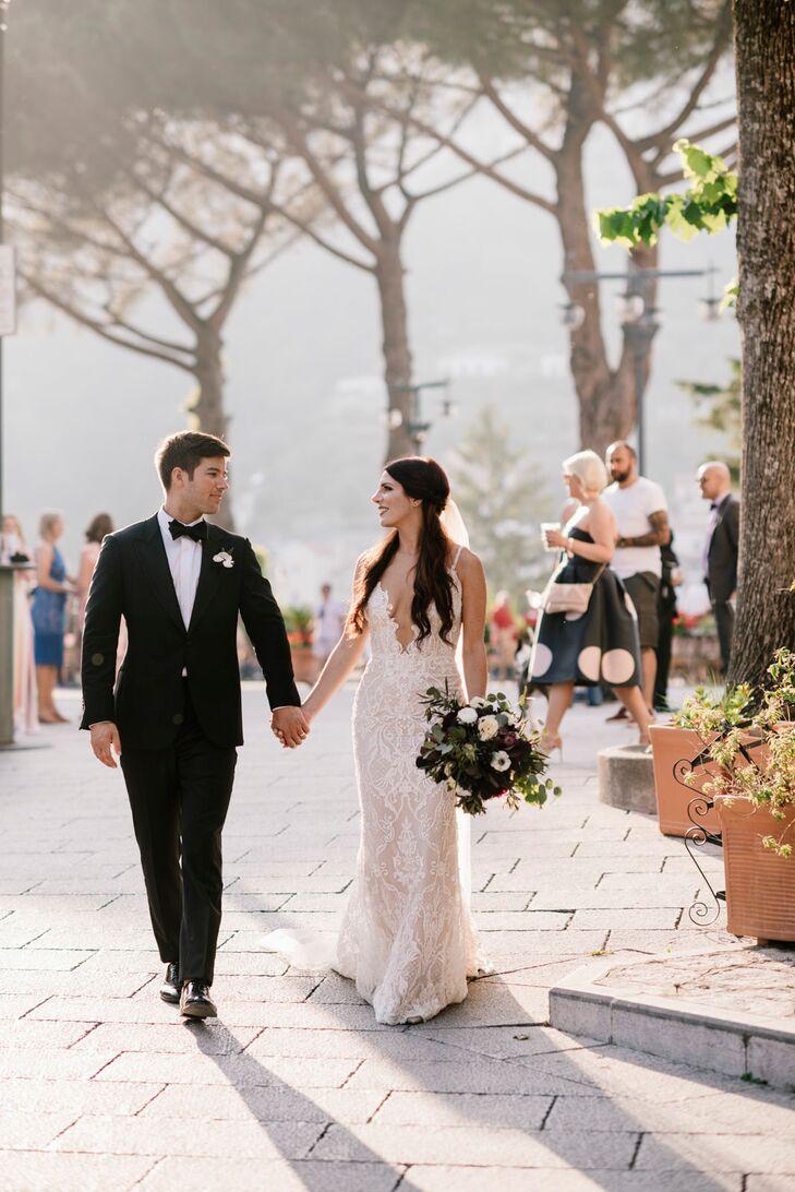 Romantic Couple at Villa Cimbrone in Ravello, Italy