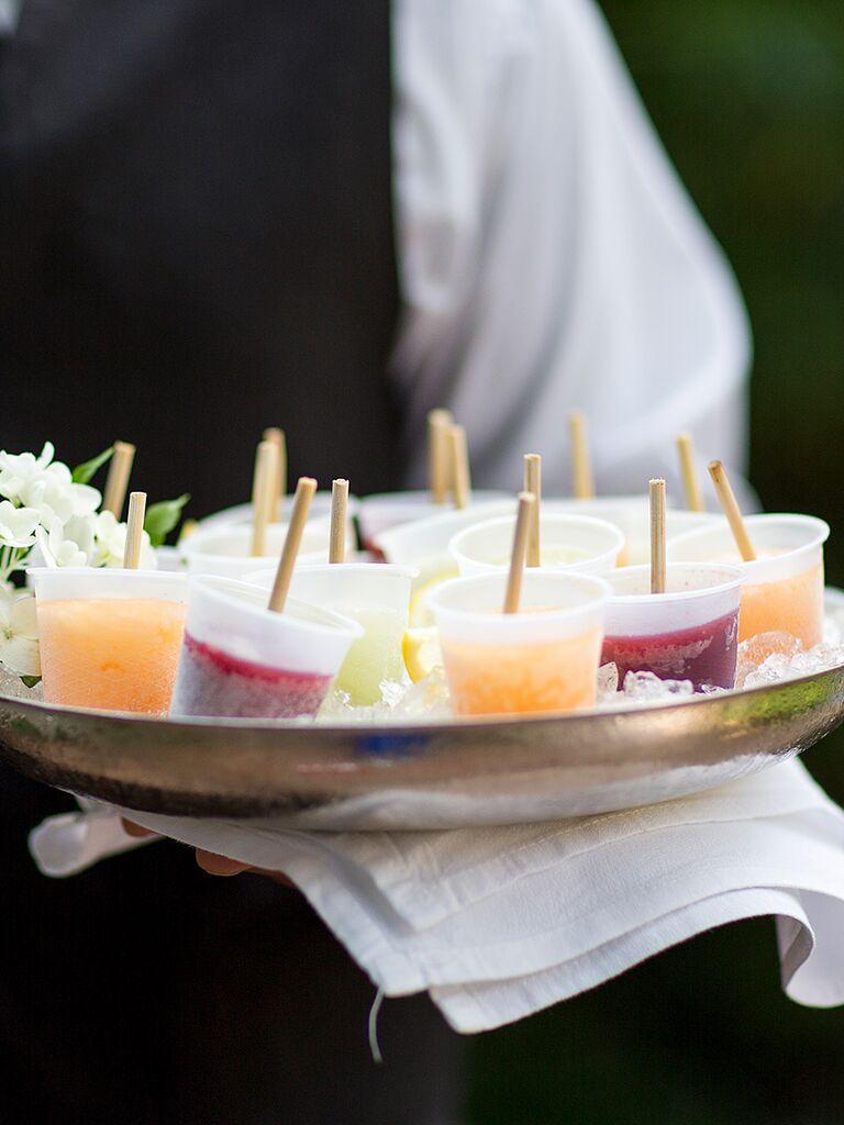 mini popsicle cocktail appetizer