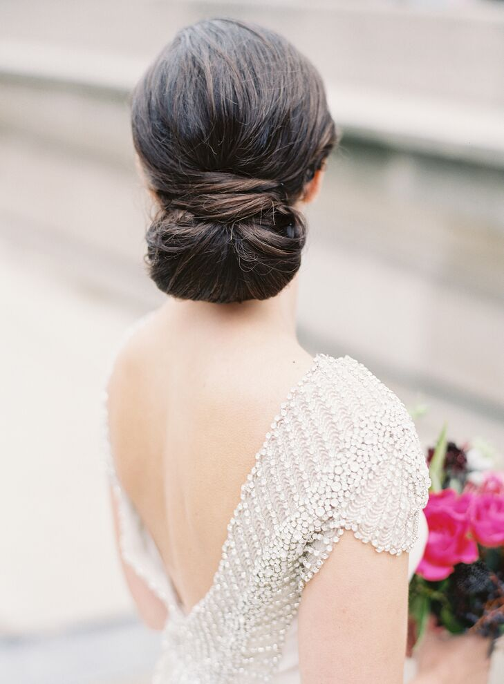 Sophisticated Low Twisted Updo