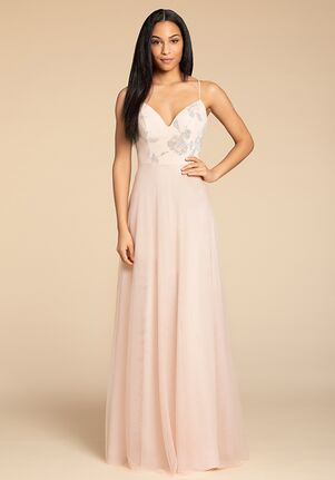 Hayley Paige Occasions 5903 V-Neck Bridesmaid Dress