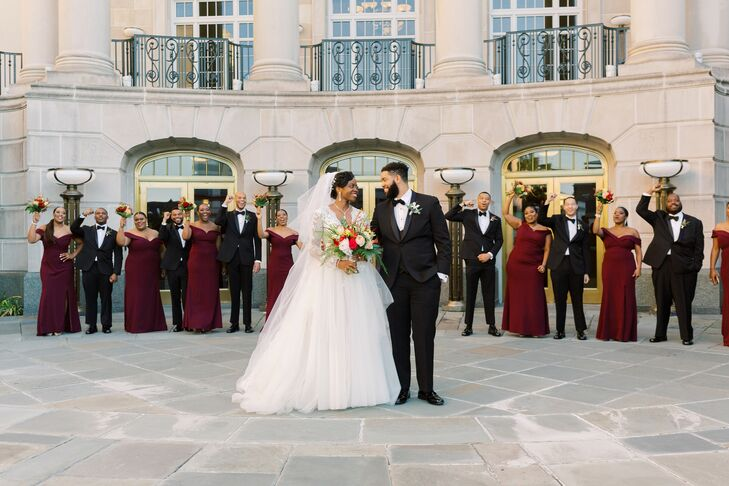Wedding Party Pictures at the Gaillard Center in Charleston, South Carolina