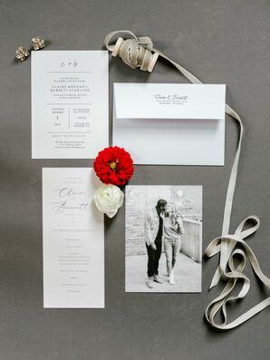 Simple, Modern Black-and-White Wedding Invitations