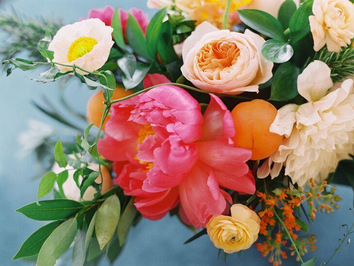 Pink Peony, Garden Rose Arrangement