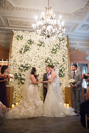 Brides Exchange Rings at White Rose Wall