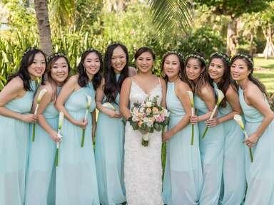 seafoam green bridesmaid dress mexico cancun