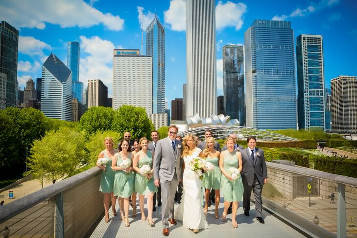 Mint Knee-Length Bridesmaid Dresses