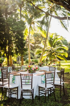 Tropical Reception at Stone Crusher Estate in Kapaau, Hawaii