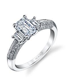 MARS Fine Jewelry Elegant Emerald Cut Engagement Ring