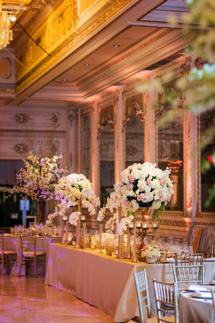 Luxurious Reception Tables