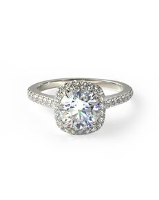 James Allen Classic Princess, Cushion, Round Cut Engagement Ring