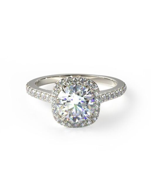 James Allen Classic Princess, Cushion, Round Cut Engagement Ring