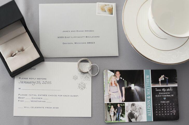 Snowflake Photo Wedding Invitations