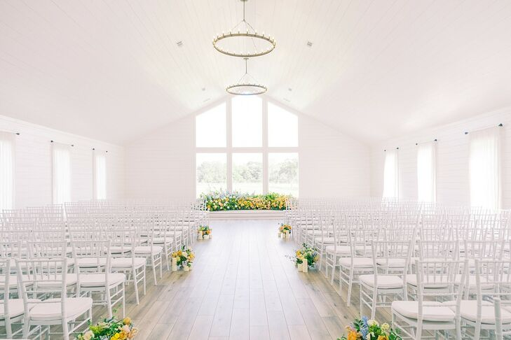 Ceremony Setup at The Farmhouse in Montgomery, Texas