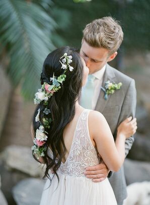 Flower Hair Accessories for Beach Wedding in San Diego