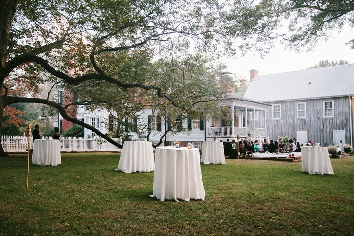 """""""Our reception was held outdoors at my Great Aunt and Uncle's Victorian home, which was previously my great grandmother's residence,"""" Sarah says. """"Historic Madison was the perfect backdrop for our Southern inspired wedding!"""""""