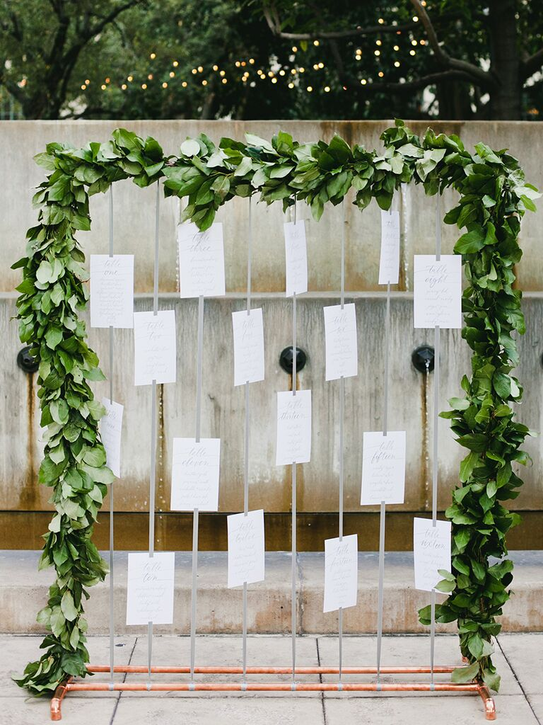 Escort card display tips - wedding details not to miss
