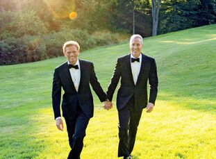 Randy and Sean's wedding mixed formal black-tie attire with a relaxed atmosphere, giving their event an elegant country flair
