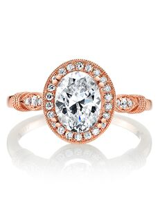 MARS Fine Jewelry Vintage Oval Cut Engagement Ring
