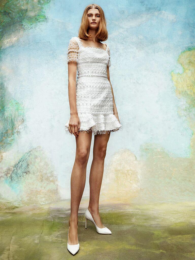 Viktor&Rolf wedding dress short lace dress with short sleeves