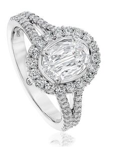 Christopher Designs Oval Cut Engagement Ring