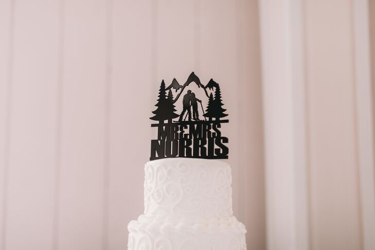 Personalized Mountain Cake Topper