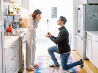 Couple newly engaged