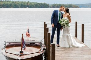 Natural, Classic Couple on Boat Dock