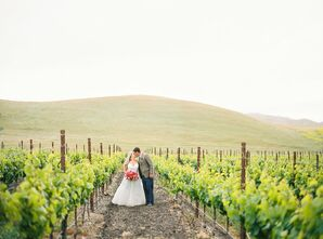 Couple Among the Vines at Greengate Ranch & Vineyard in San Luis Obispo County